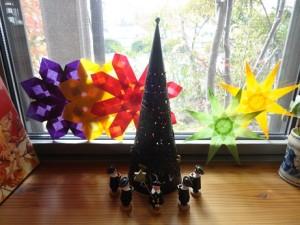 小窓にちょこっとクリスマス